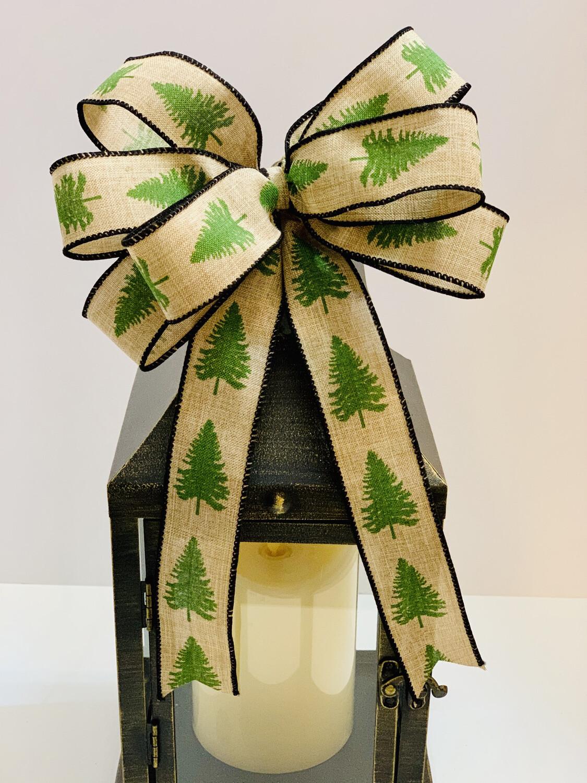 Christmas Tree Bow, Rustic Wreath Bow, A Touch of Faith