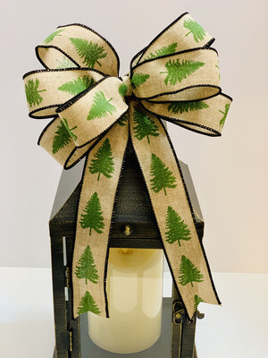Christmas Tree Bow, Rustic Wreath Bow, A Touch of Faith