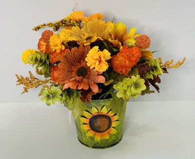 Fall Centerpiece, Sunflower Daisy Decor, A Touch of Faith