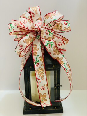 Gingerbread Candy Canes Christmas Tree Bow, A Touch of Faith