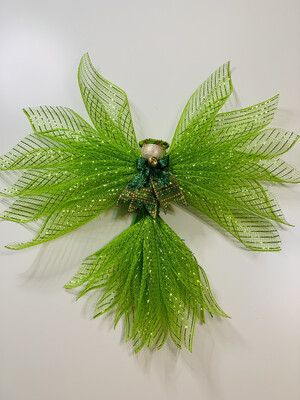 Angel Tree Topper, Green Angel, St. Patrick's Day Decor, Angel Ornament, Angel Wall Hanging, A Touch of Faith