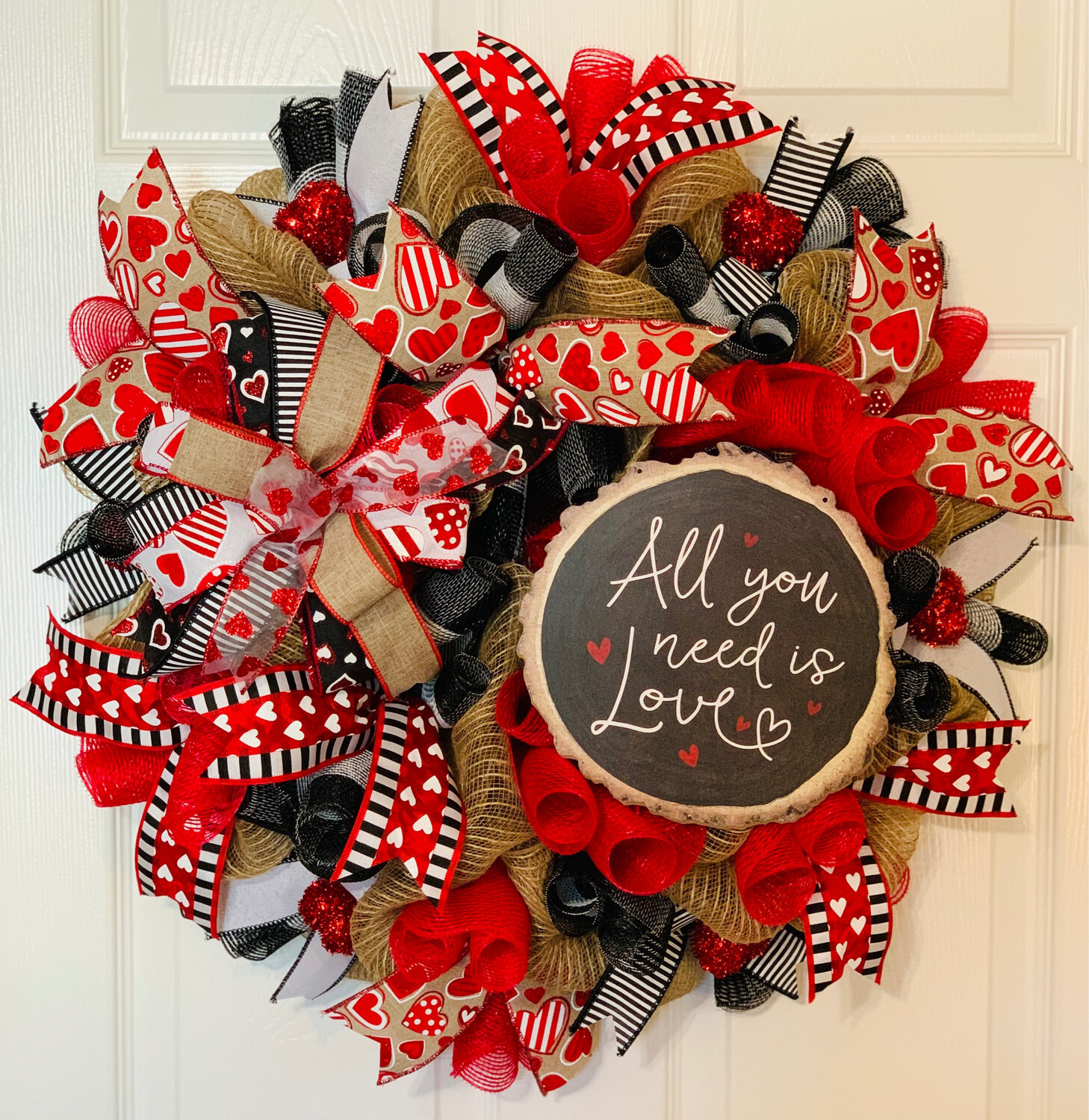 All You Need Is Love Valentine's Day Wreath