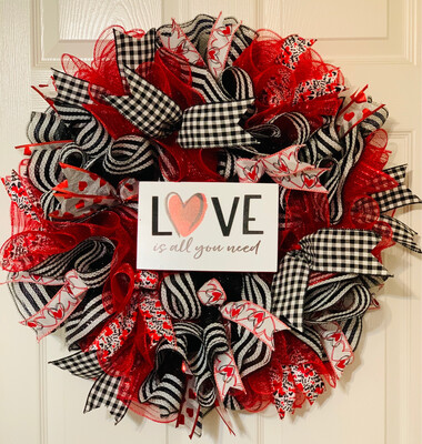 Love Is All You Need Wreath, A Touch of Faith