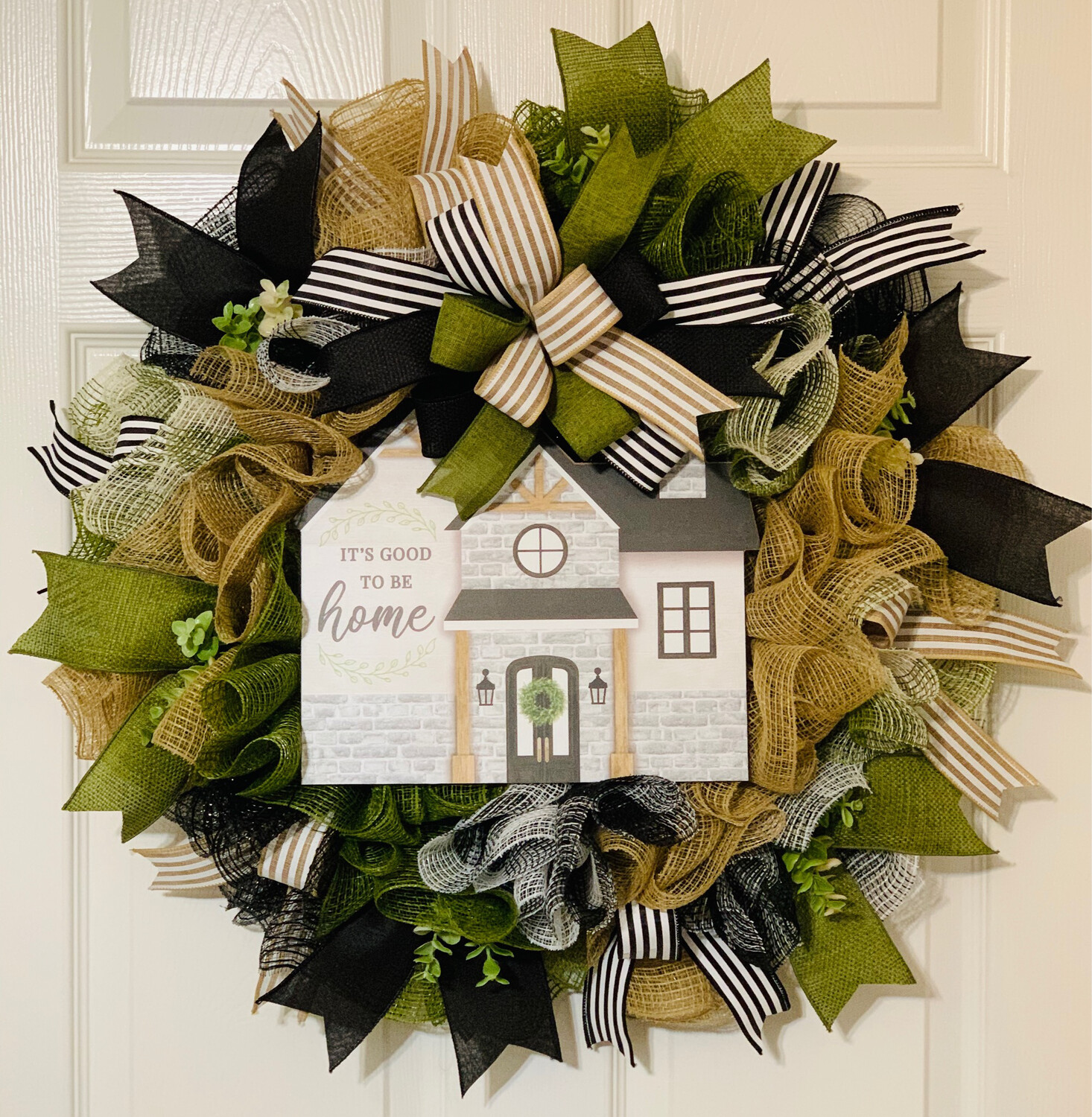 It's Good to Be Home, House Wreath, House Warming Gift, Welcome Home, A Touch of Faith