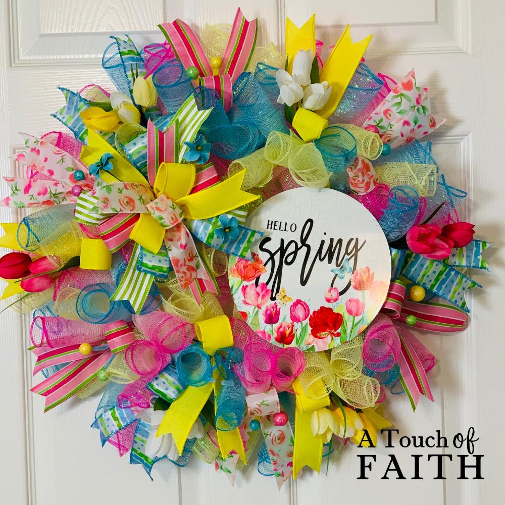 Hello Spring Wreath A Touch of Faith