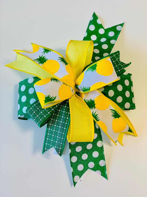 Pineapple Wreath Bow, A Touch of Faith