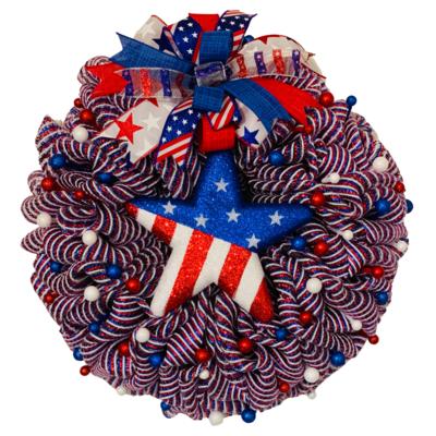 Patriotic Star Wreath, A Touch of Faith