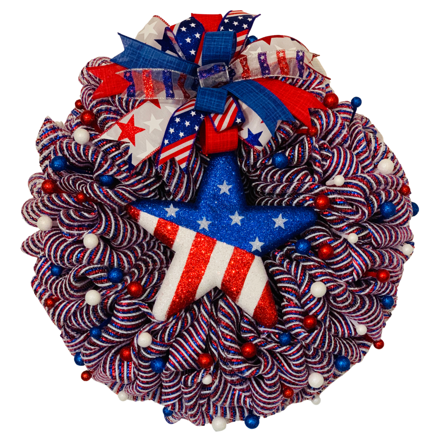 Patriotic Star Wreath, A Touch of Faith
