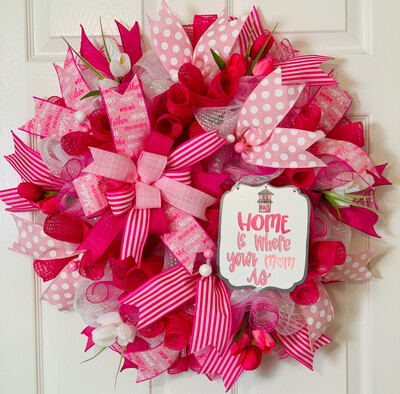 Mom Wreath, Gift for Her, Home Decorations, Mother's Day Gift, A Touch of Faith