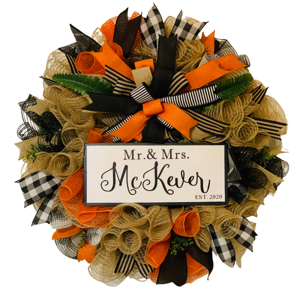 Personalized Wreath, A Touch of Faith