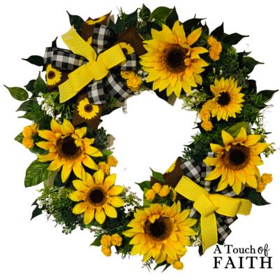 Sunflower Grapevine Wreath