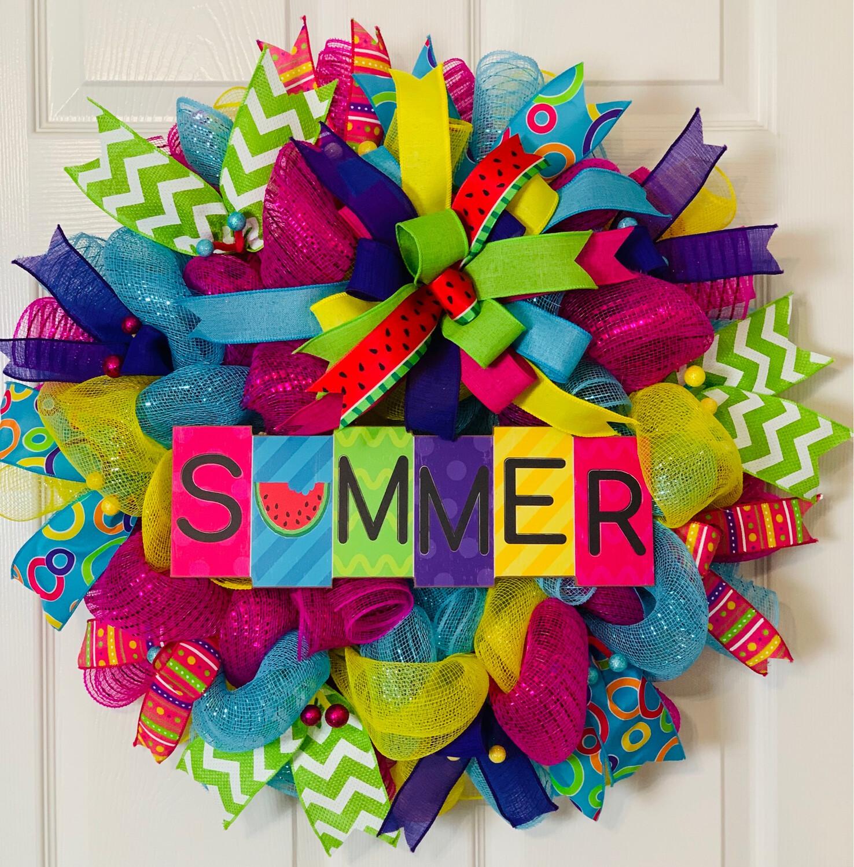 Summer Blocks Wreath