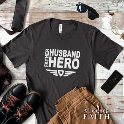 Father Husband Hero Men's Short-Sleeve Unisex T-Shirt A Touch of Faith