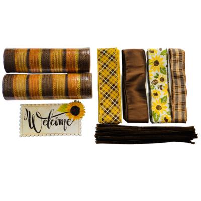 Fall Sunflower Welcome Wreath Kit, A Touch of Faith