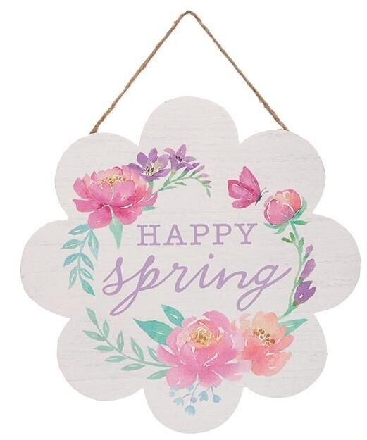 Happy Spring Wreath Sign, A Touch of Faith