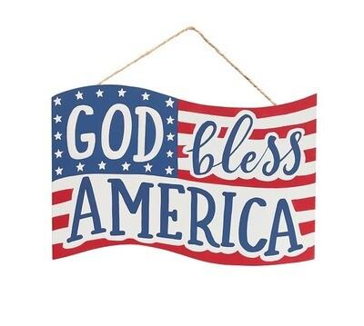 God Bless America Wreath Sign, A Touch of Faith