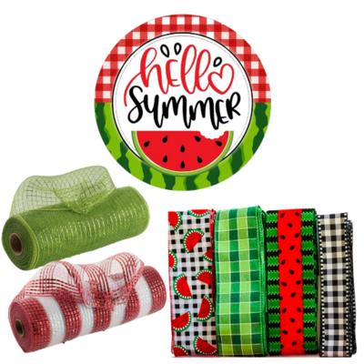 Hello Summer Watermelon Wreath Kit, A Touch of Faith
