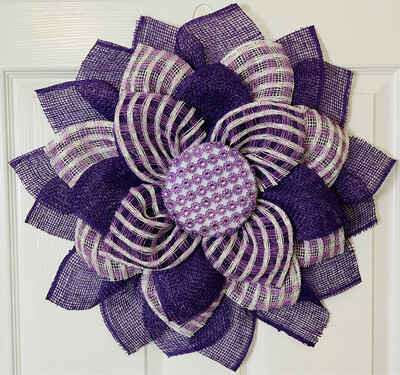 Purple Daisy Flower Wreath