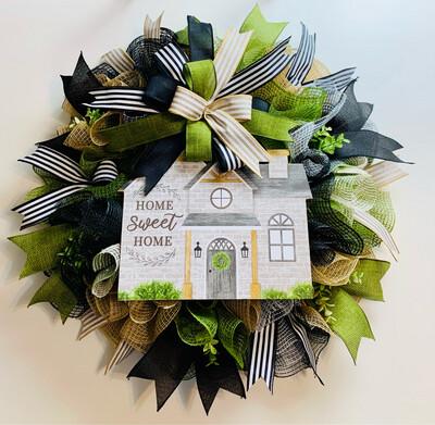Home Sweet Home Wreath
