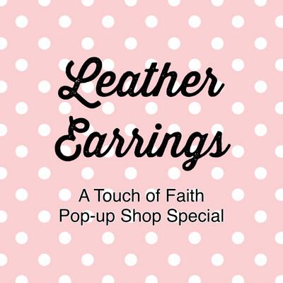 1 Faux Leather Earrings