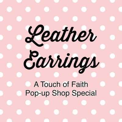 3 Faux Leather Earrings