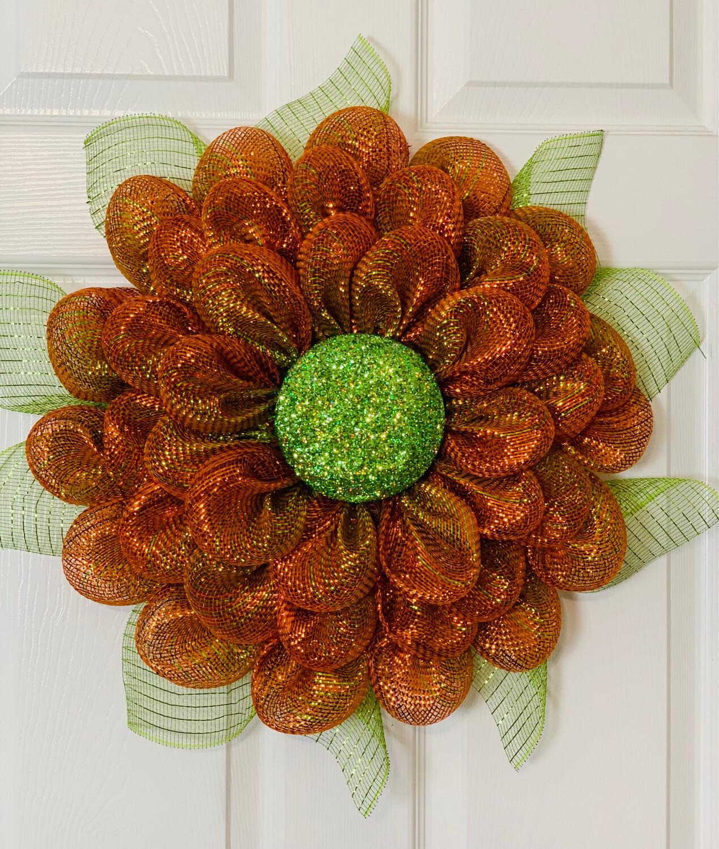 Fall Harvest Flower Wreath