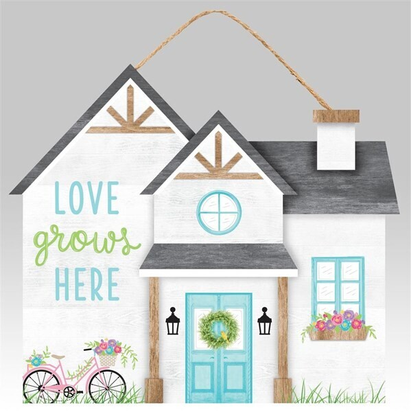 Love Grows Here House Sign
