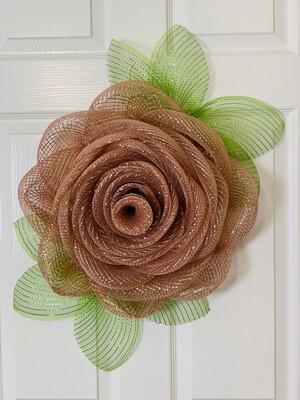 Rose Gold Rose Wreath