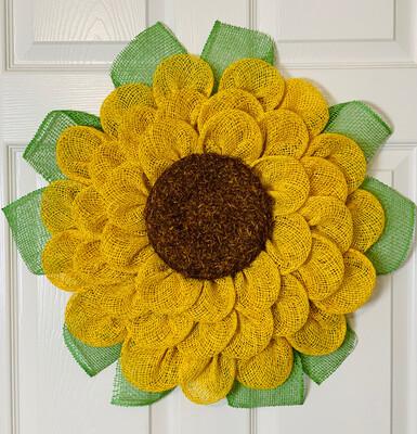 Yellow Sunflower Flower Wreath
