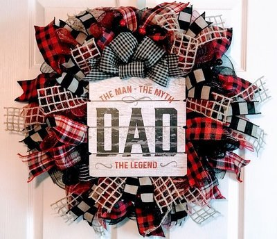Dad Gift, Man Myth Legend, New Dad Gift, Father's Day Wreath, Man Cave Decor, A Touch of Faith