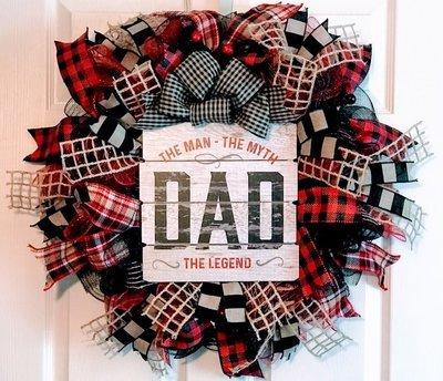 Dad Man Myth Legend Wreath