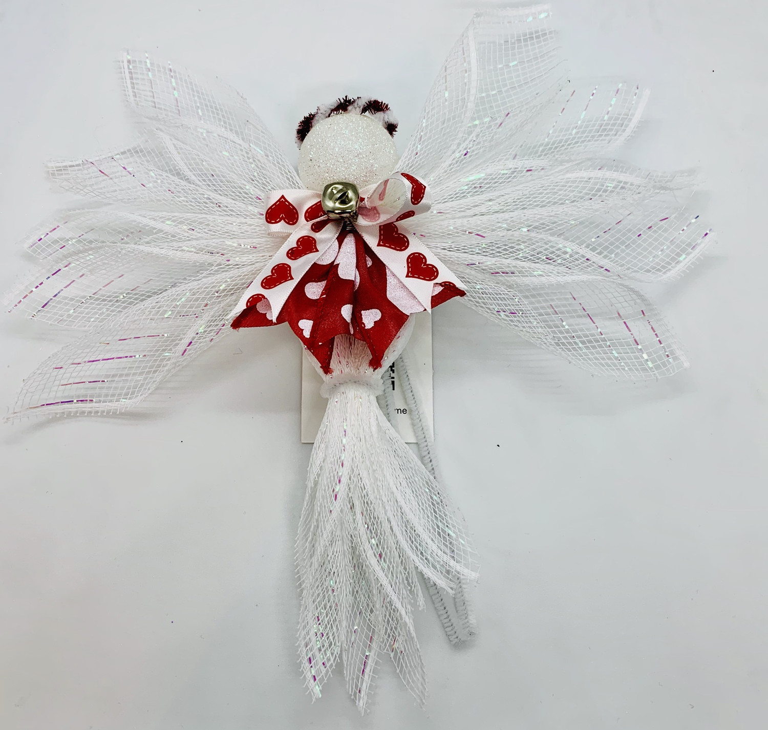 Red White Valentine's Day Angel Tree Topper Ornament Holiday Angel Wall Hanging A Touch of Faith