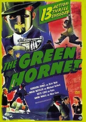 The Green Hornet ~ 2 DVD Set ~ 13 Action Thrilled Episodes (Used) Excellent