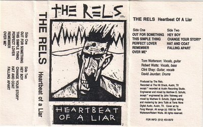 The Rels - Heartbeat Of A Liar - Demo / Promo Cassette New Sealed (Rare)