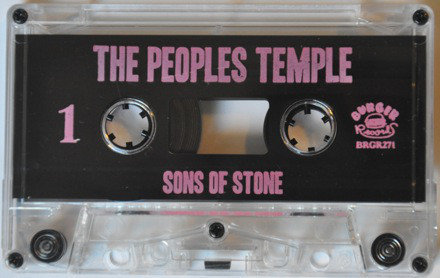 "THE PEOPLES TEMPLE ""SONS OF STONE"" - Cassette Tape on Burger Records (Used) Like New"