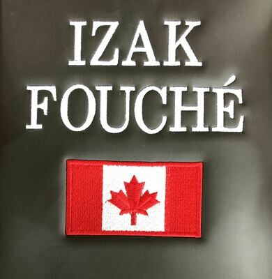 Name and Canadian Flag Embroidery