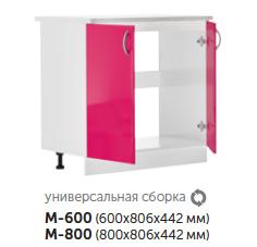 Модуль под мойку с 2 дверцами кухонный