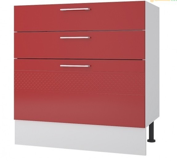 Шкаф 3 ящика 80 см нижний