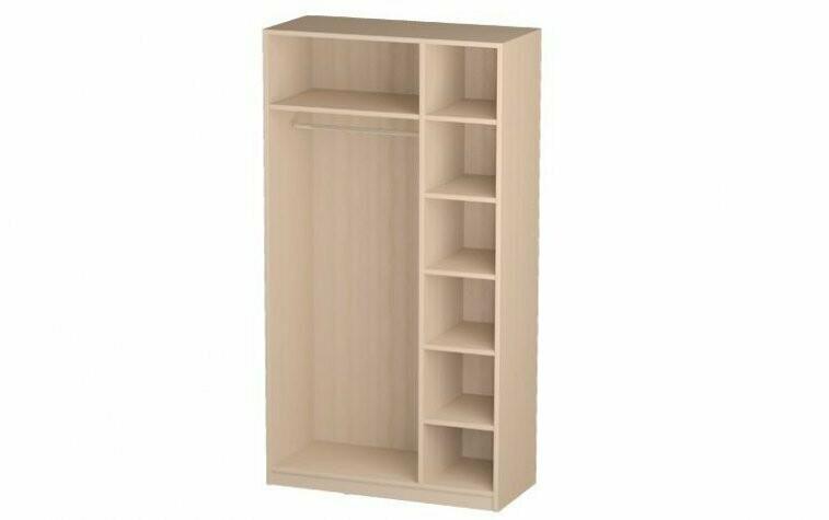 Шкаф для одежды 06.56 (каркас) + 3шт. Дверь МДФ