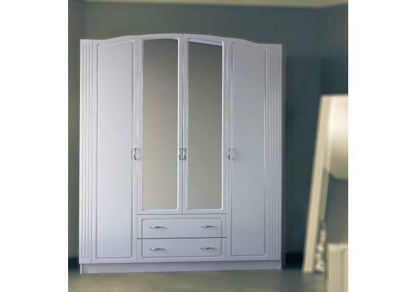 Шкаф 4-х створчатый с зеркалом