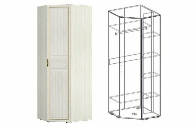 Шкаф угловой левый/правый (440)