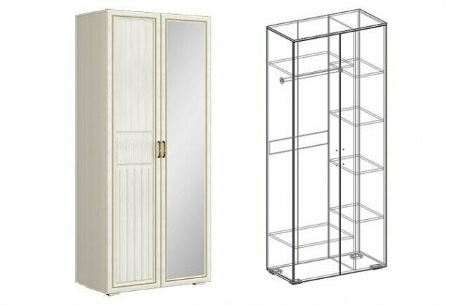Шкаф 2х-створчатый комбинированный левый/правый (440)