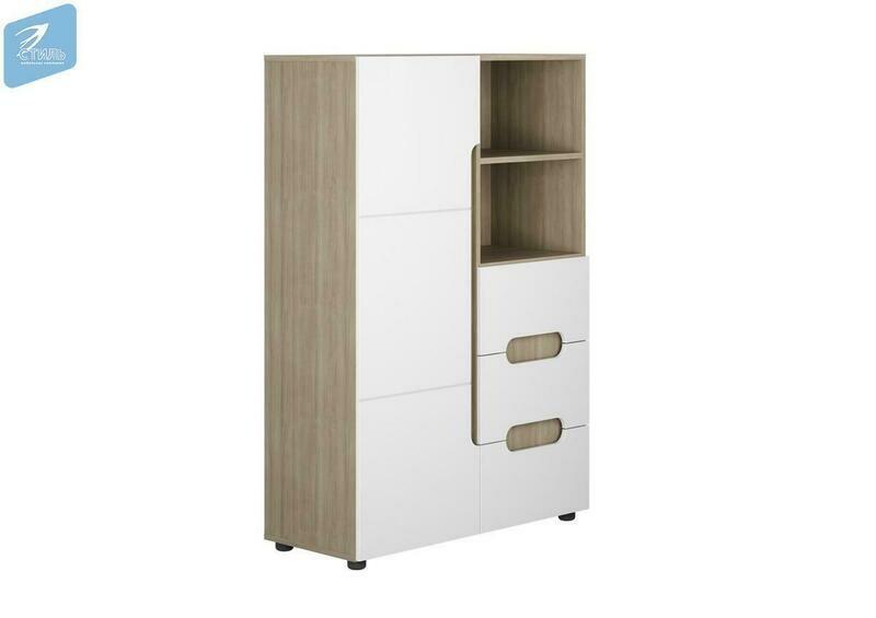 Шкаф 1-створчатый комбинированный