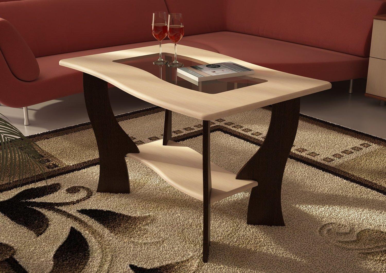 Журнальный стол №3 с прямоуг. стеклом (900х540х600)