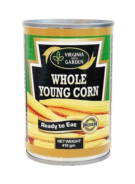 Virginia Green Garden Whole Young Corn 400g