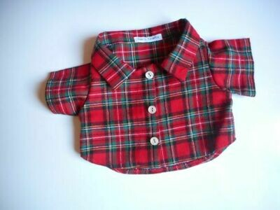 Shirt - red tartan. Last ones in this fabric!