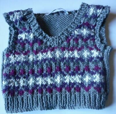 Tank top for bear - grey tones