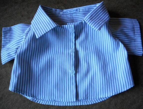 Shirt - grey and white stripe.