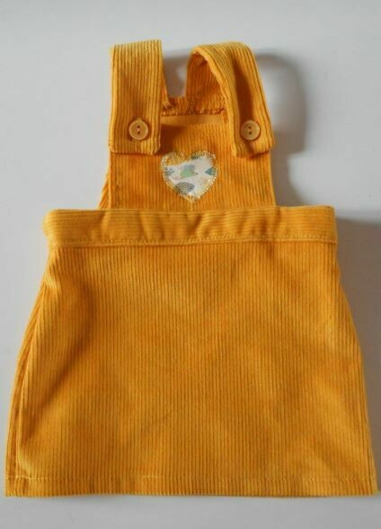 Pinafore for doll - in 3 colour options