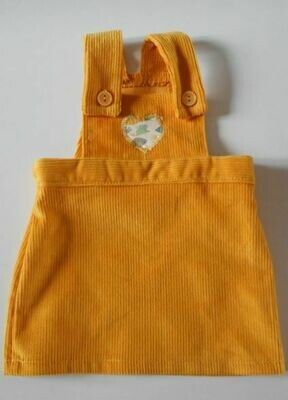 SALE. Pinafore for doll - in 3 colour options. WAS £7 NOW £5.50!